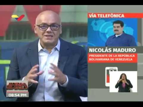 """Nicolás Maduro este 5 abril 2020 en """"TV Foro"""" con William Castillo, Jorge Rodríguez y Freddy Ñáñez"""
