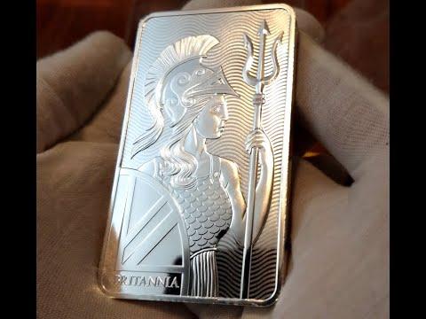 Gorgeous 10oz Silver Britannia Bar Royal Mint 2018