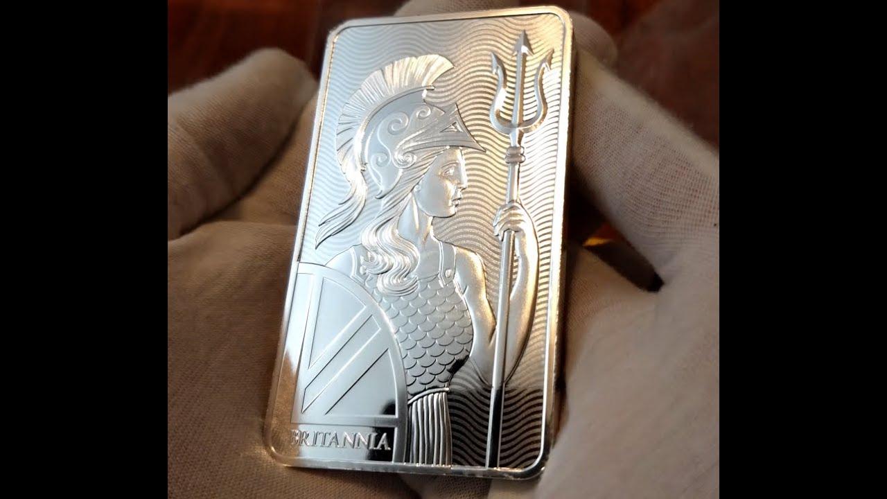 10oz Silver Britannia Bar Royal Mint