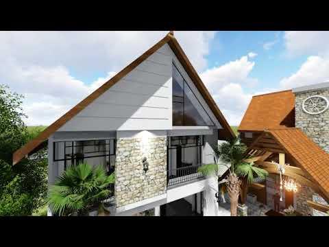 desain rumah minimalis 9x16 meter - luas lahan 400m2 - youtube