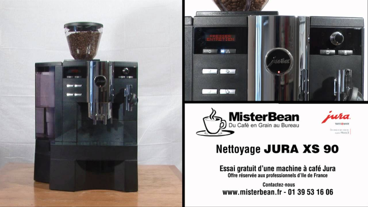 nettoyage machine caf en grain jura xs9 youtube. Black Bedroom Furniture Sets. Home Design Ideas