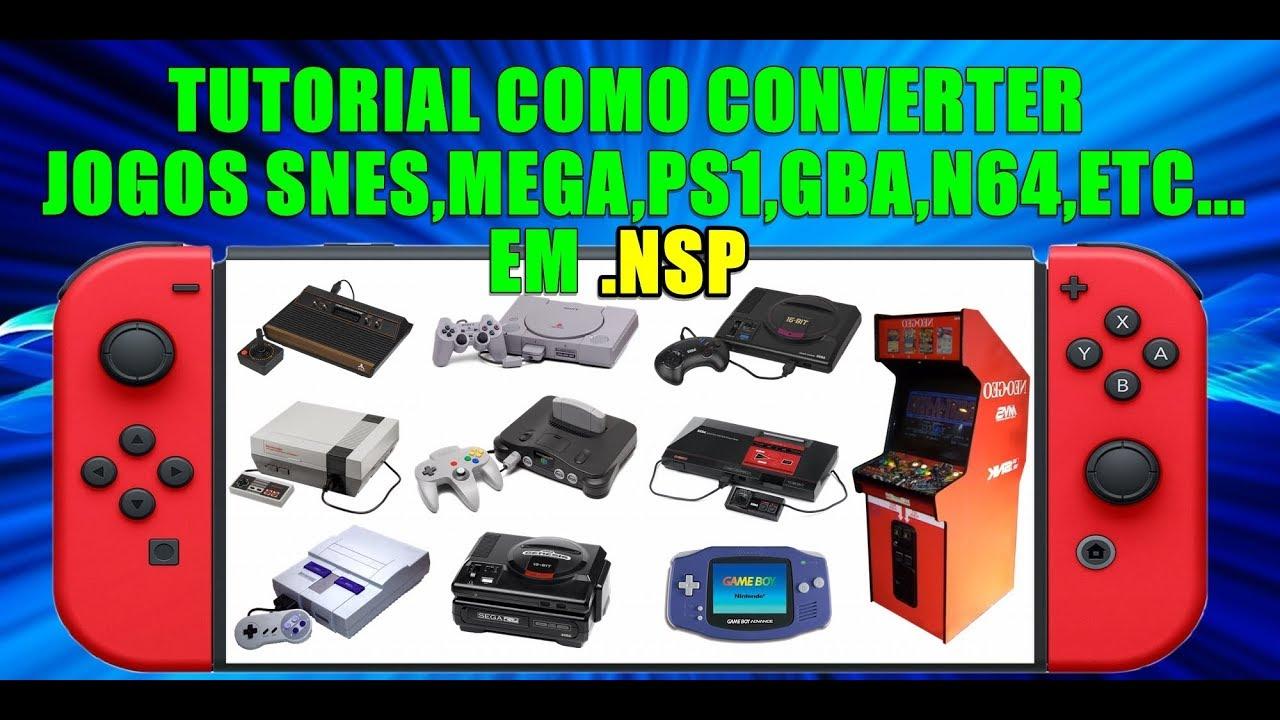 COMO CONVERTER JOGOS DE SNES,MEGA,GBA,N64,PS1,ETC    EM  NSP PARA JOGAR NO  NINTENDO SWITCH
