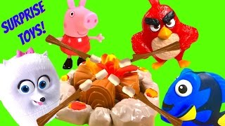 GIANT Play Doh Bucket With TOYS!! Shopkins Barbie Secret Life of Pets Tsum Tsum|B2cutecupcakes