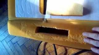 Восстановление поролона автомобильного сиденья