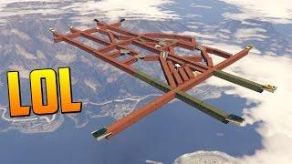 SI CAES PIERDES! SUPER DIFICIL!! - Gameplay GTA 5 Online Funny Moments (Carrera GTA V PS4)