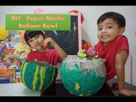 พี่โมน้องโม l DIY Paper Mache Balloon Bowl