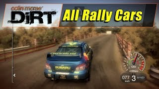 Colin Mcrae Dirt 1 (PS3) - All 15 Rally Cars (With Unlocked Cars) (720@60)