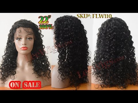 Pre Plucked Hairline Long Loose Curly 180% Heavy Density Natural Black Human Hair Full Lace Wig
