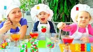 Желе с Мишки Гумибер. Простые рецепты детям.