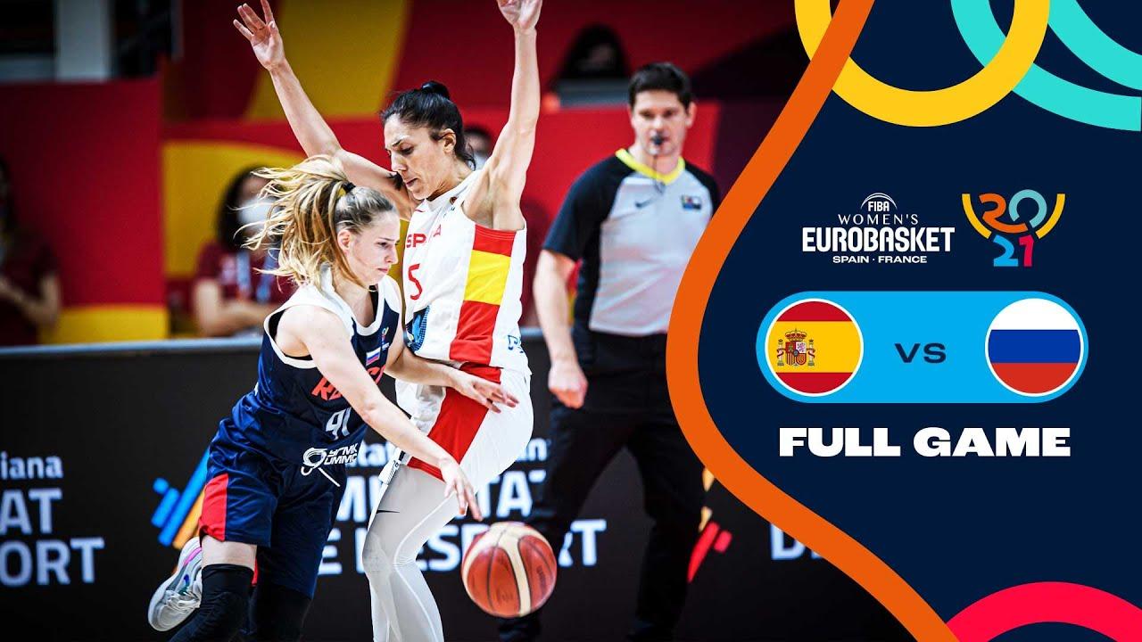 Spain v Russia   Full Game - FIBA Women's EuroBasket 2021 Final Round