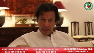 PTI Chairman Imran Khan's message for overseas Pakistanis living in USA.