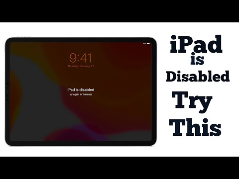 How to Fix My apple iPad  Disabled Without iTunes 2018 ?