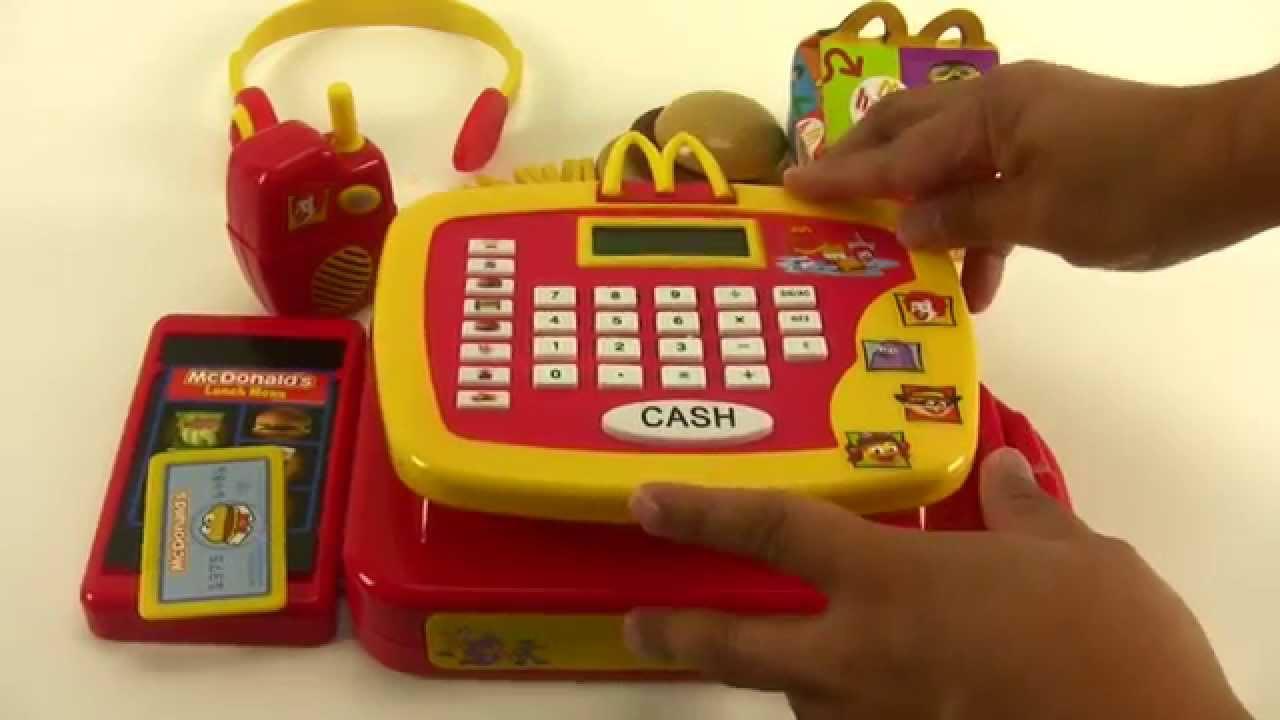 Deluxe Toy Cash Register : Mcdonald s cash register playset youtube