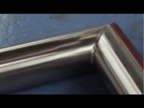 SUHNER Обработка, сатинирование нержавеющей стали, угловое соединение, труба