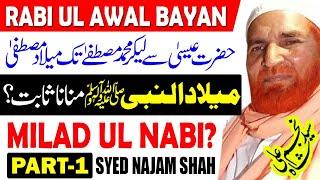 Syed Najam Shah New Bayan 2020 l Rabi ul Awal Bayan l Eid Milad un Nabi Bayan l Part 1