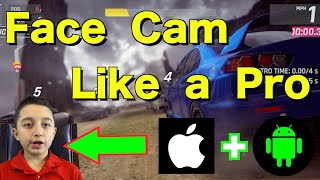 How to put face cam in video . Mobile Gaming face cam Tutorial