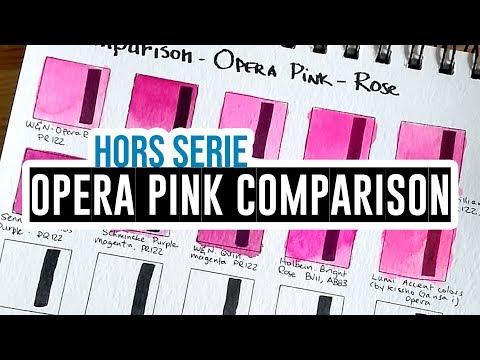 Comparison of Opera Pink/Rose Watercolors