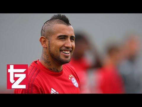 Arturo Vidal: Erstes Training für den FC Bayern / Arturo Vidal first training session FC Bayern