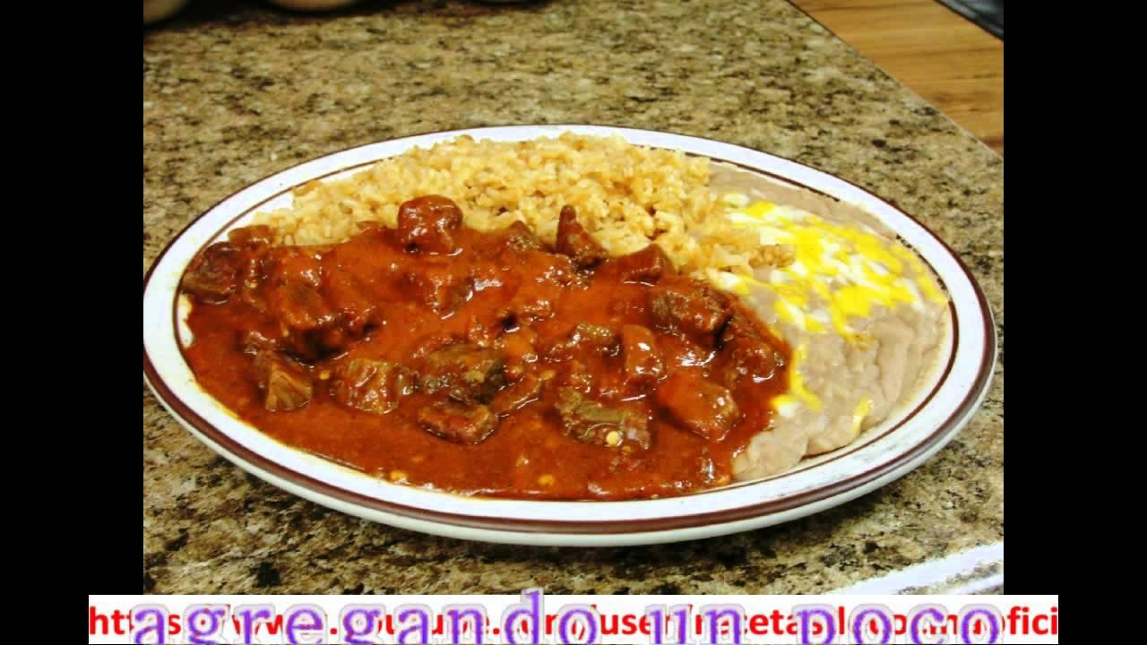 como se hace la carne deshebrada con chile colorado