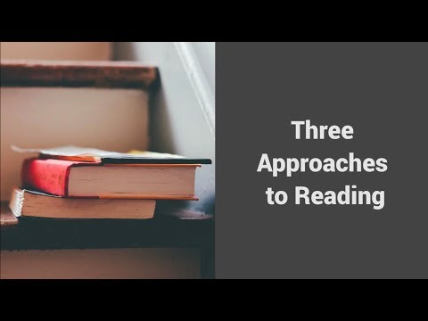 MOOC USSV101x | Hard Reading, Good Writing | Three Approaches to Reading