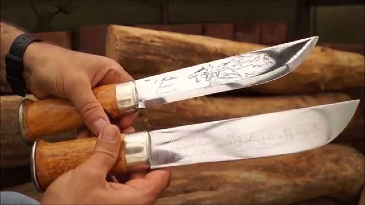 OLD vs  NEW Marttiini 260 big Lapinleuku RentierzüchterMesser Finland Sami  Knife traditional ALT NEU