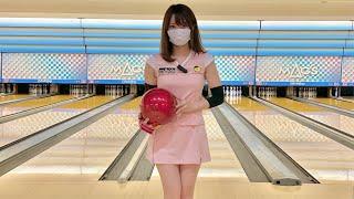 ボウリング女子の練習風景91(Bowling Practice)2021/7