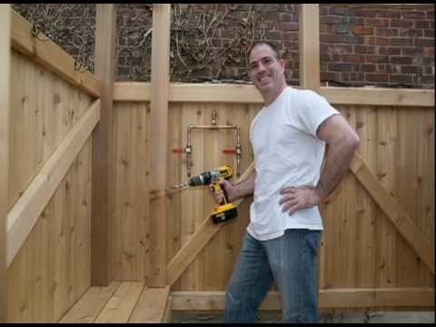 My Outdoor Wood Shower Video