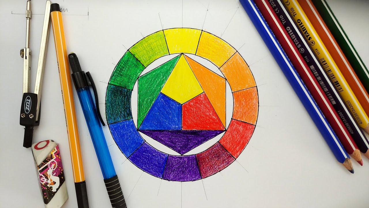 How To Draw Basic Color Wheel With 12 Colour 12 Es Szinkor Youtube