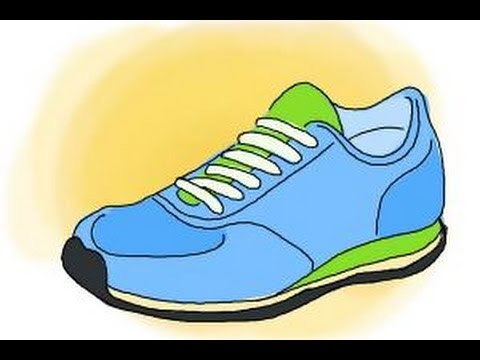 How to draw running shoes