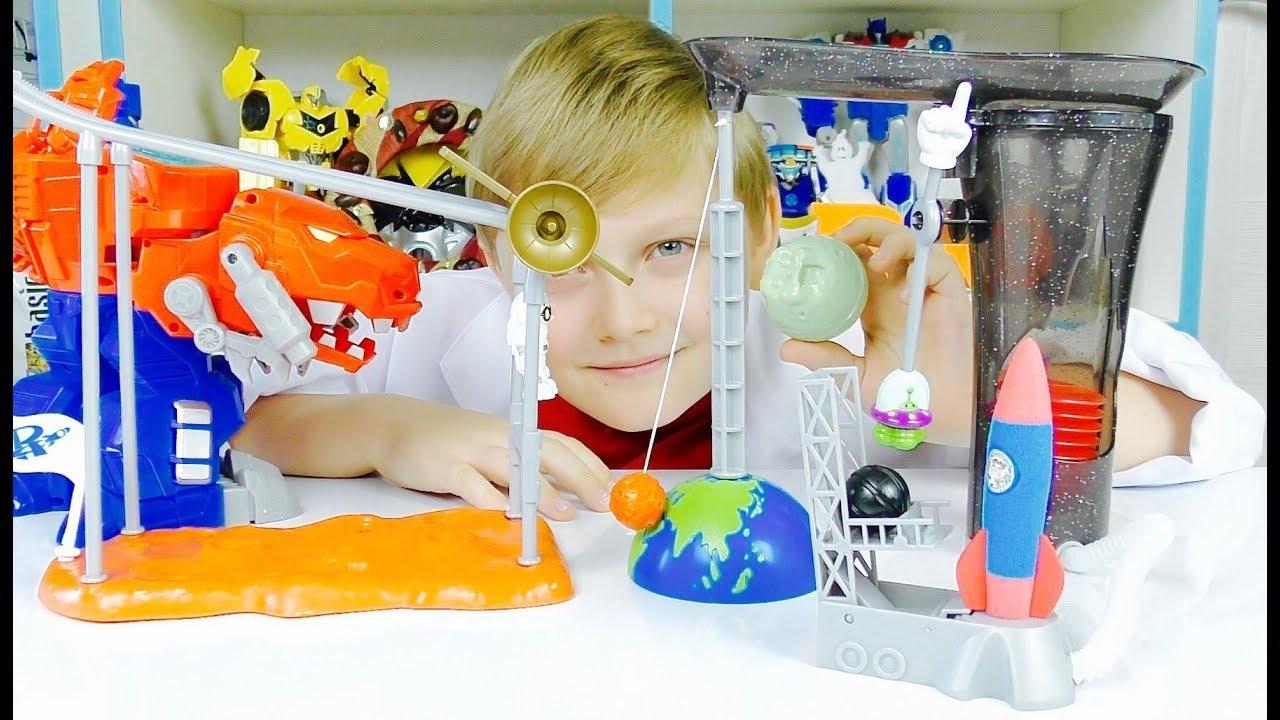 ТОБОТЫ Машинки Роботы ЗАПУСКАЕМ РАКЕТУ Научные эксперименты для детей и ТРАНСФОРМЕРЫ