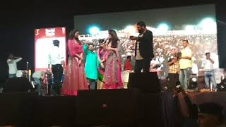 Daisy Shah  First  time Taking in Gujarati language in Gandhidham Bageshree navyatri