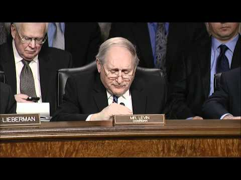 Sen. Levin Chairs Armed Services Committee Hearing with Def. Secy. Panetta and Gen. Dempsey