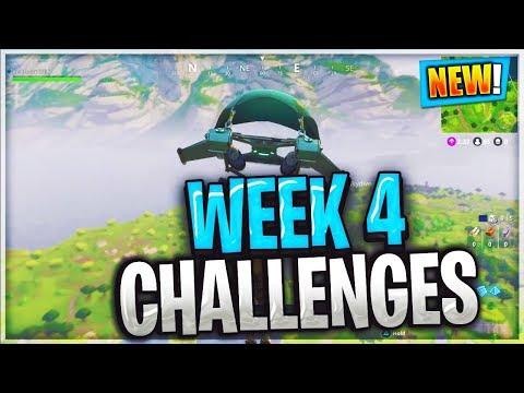 FORTNITE WEEK 4 CHALLENGES LEAKED