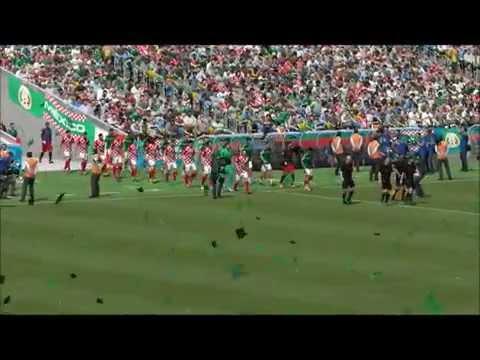 FIFA 14 ワールドカップ サッカー ブラジル大会 グループA クロアチア - メキシコ レシフェ 6月24日(5:00) デモ試合予想