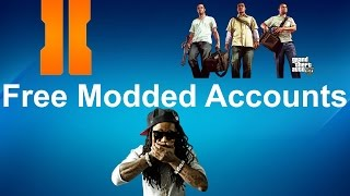 Free Modded Accounts For GTA 5BO2 On XBOX 1 XBOX 360 PS3