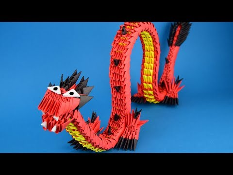 How to make a paper dragon origami 3D   DIY Tutorial