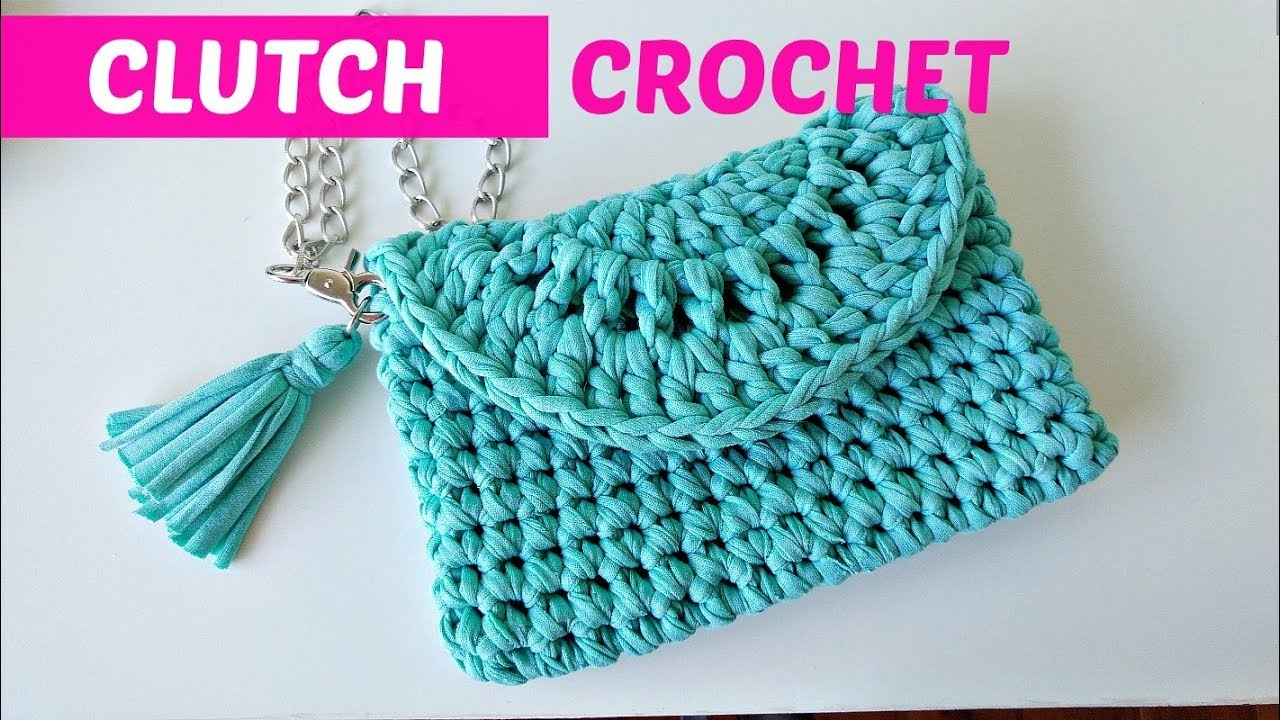 la mejor actitud bf246 aee2c Crochet clutch or easy handbag