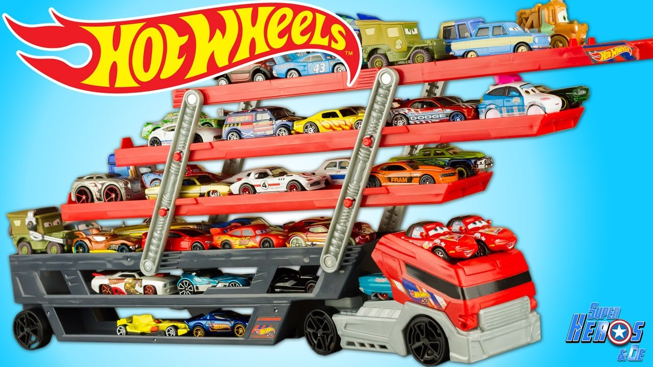 Toy Mega Voitures Camion Wheels 50 Hauler Review Jouet Remorque Hot dtsrQh
