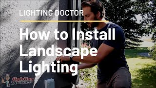 How to Install Low Voltage Landscape Lighting  Complete Step by Step Video