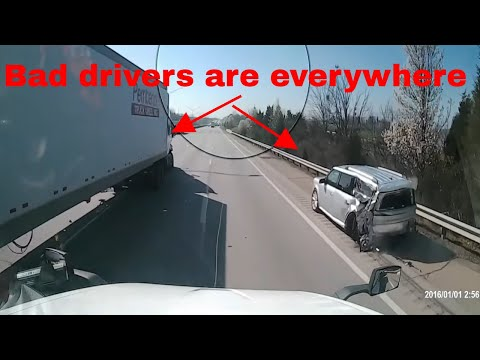 Bad Drivers,Driving Fails -learn How To Drive #86