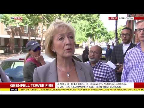 """Tory Minister Andrea Leadsom told live on air 'At least she (Theresa May) could have met victims."""""""