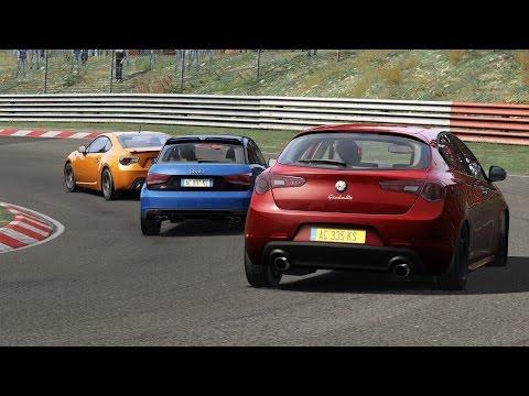 Alfa Romeo Giulietta QV vs Audi S1 quattro vs Toyota GT86 / FWD vs AWD vs RWD / Nürburgring