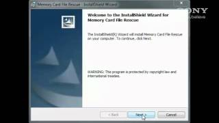 How to use Sony's Memory Card Data Recovery Software