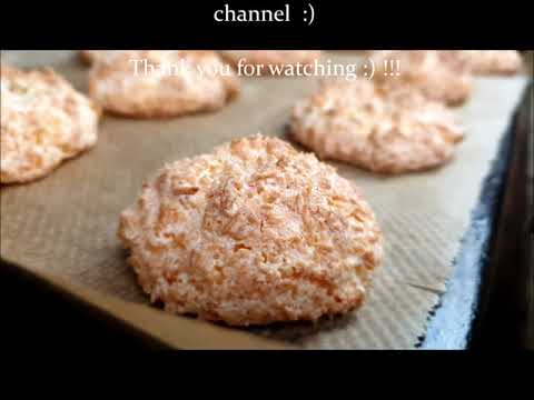 coconut cookies video recipe