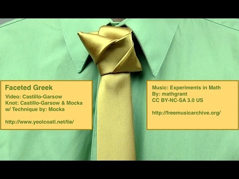 Faceted Greek Knot: Tie knot instructional video