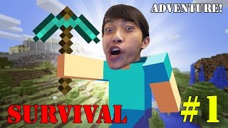Minecraft Survival part 1 - CrisDevilGamer tập chơi Minecraft