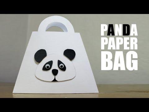 How to make a Paper Bag - DIY Panda Paper Bag Design