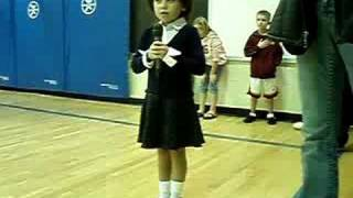 kylee singing stars spangle banner school