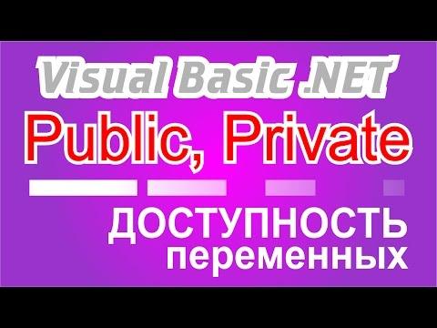 Visual Basic .NET доступность переменных, Public, Private