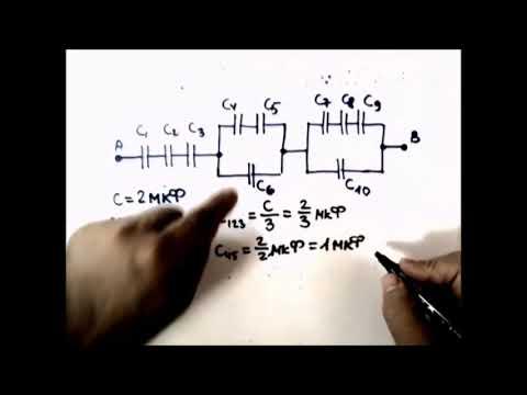 Как определить эквивалентную емкость конденсаторов